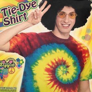 Costume theme party tie dye shirt.
